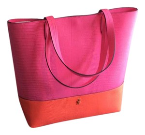 Juicy Couture Tote in Bright pink and orange