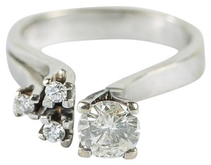 Other 14K White Gold and 1.02 CTW Diamond Open Front Ring