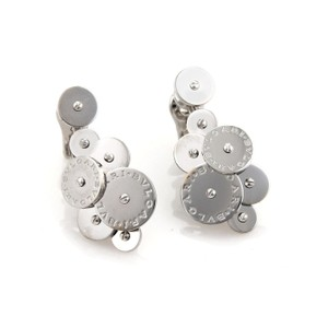 BVLGARI Bulgari Cicladi 18k White Gold Cluster Disc Drop Dangle Earrings