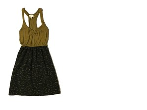 Silence + Noise short dress Gold and Black Urban Outfitters Summer Spring Racerback on Tradesy