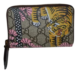 Gucci Bengal Guccissima Medium Zippy Wallet