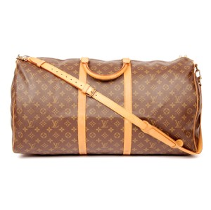 Louis Vuitton Keepall 60 Bandouliere Duffle Monogram Keepall Brown Travel Bag
