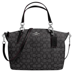 Coach Satchel in smoke/ black