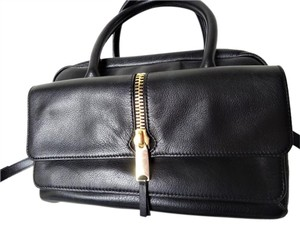 Via Spiga Italian Leather Ambrosia Cross Body Satchel in Black