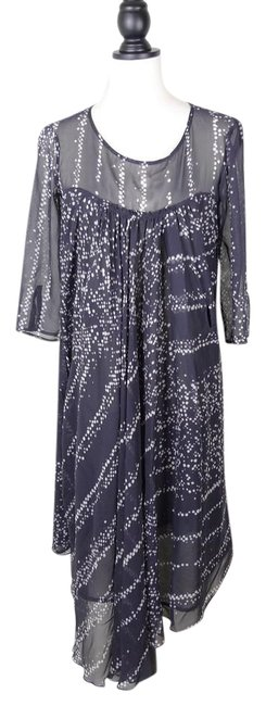 Item - Printed Silk 40 Italy Mid-length Cocktail Dress Size 8 (M)