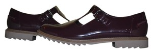 Clarks Patent Leather Size 8 Griffin Wine Flats
