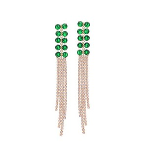 Other Gorgeous Handmade With Swarovski Crystals Green Fringe Earrings $110 DF101