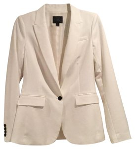 Banana Republic white with black buttons fully lined Blazer