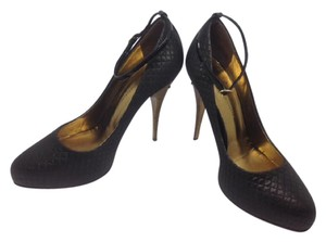 Giuseppe Zanotti Suede Fashion Black Pumps