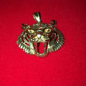 14k Gold Tiger Head 14k gold tiger head pendant