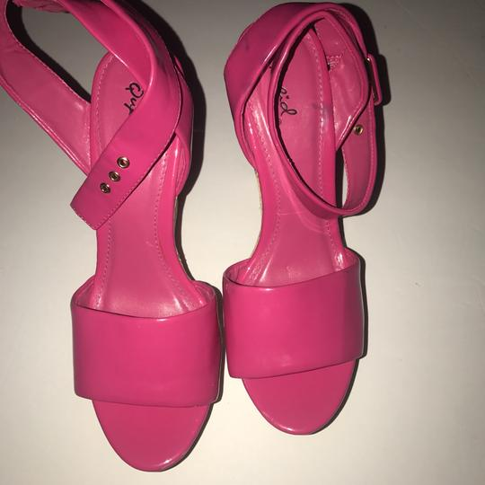 Qupid Pink Wedges