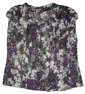 Elie Tahari Top Purple Green