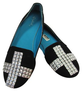 Qupid Size 8.00 M Very Good Condition Black, Flats