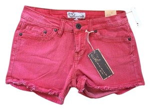 Vintage Havana Cutoff Cut Off Shorts Red