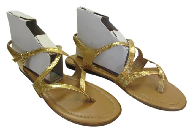 Gold M Very Condition Sandals Size US 9.5 Regular (M, B) Gold M Very Condition Sandals Size US 9.5 Regular (M, B) Image 1