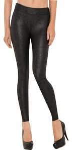 Guess Leather Distressed Black Leggings