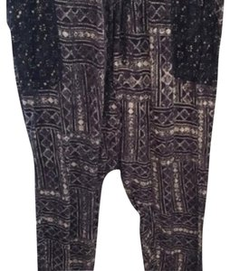 Urban Outfitters Baggy Pants black white