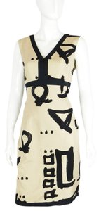 David Meister Silk Sheath Dress