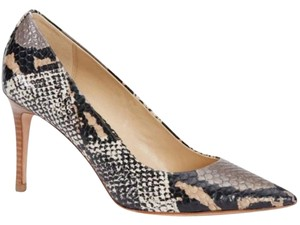 Coach Womens Leather Python Office black/white python Pumps