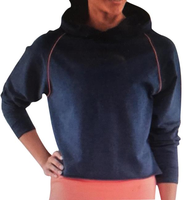 Item - Heathered Navy Please Pull Me Over Crop Activewear Outerwear Size 8 (M)