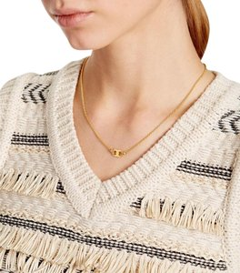 Tory Burch New Tory Burch Gemini Link Thin Necklace - 16k Gold