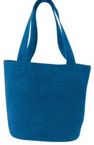 Talbots Straw Tote in Blue
