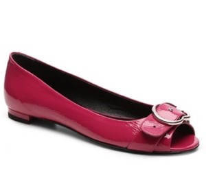Gucci Patent Leather Womens Hot pink Flats