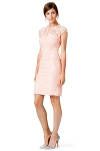 Monique Lhuillier Lace Eyelash Cap Sleeve Dress