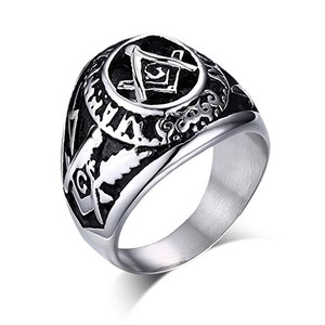 Boutique 9 Freemason Masonic Ring for Men Jewelry of Stainless Steel