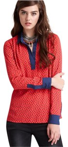 Free People Top Red+Navy