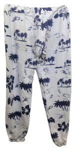 Monrow Relaxed Pants White/Navy