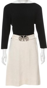 Tory Burch Belted Longsleeve Reva Logo Hardware Dress