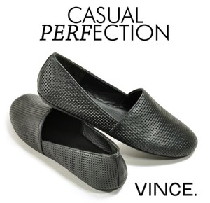 Vince Bogart Perforated Leather Slip On Womens Flats