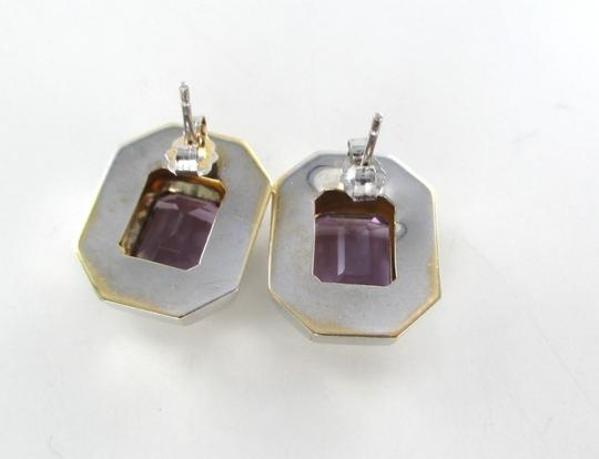 Other 14KT WHITE GOLD EARRINGS AMETHYST 4.3 GRAMS FINE JEWELRY WOMAN PRECIOUS STONE