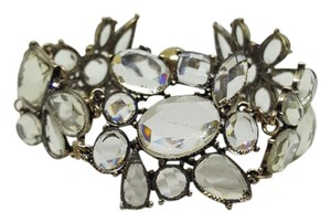 Lydell NYC Lydell NYC Antique Gold Plated Resin Clear Magnetic Bracelet