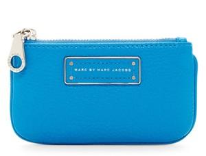 Marc by Marc Jacobs Too Hot To Handle Leather Key Pouch Wallet 889732588259 M0009448 Wristlet in Aquamarine