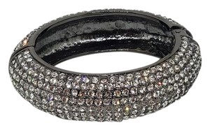 Lydell NYC Gun Metal Black Cz Bangle Bracelet