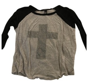 Forever 21 Shirt Tee T Shirt Grey and black