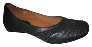 Earthies Leather pewter Flats