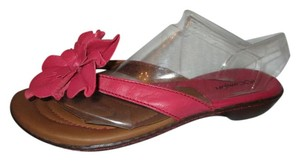 I Love Comfort Leather Thong Floral pink Sandals