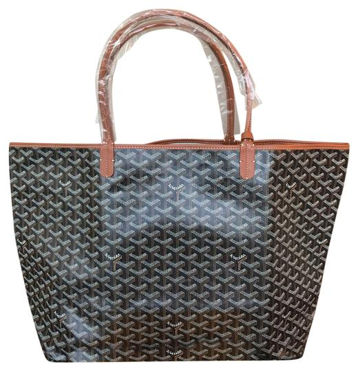 Preload https://item4.tradesy.com/images/goyard-new-st-louis-gm-in-black-and-tan-classic-chevron-canvas-tote-21236173-0-1.jpg?width=440&height=440