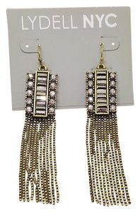 Lydell NYC Ravishing Antique Gold Tassel CZ Lydell NYC Hook Earrings