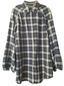 Vince light weight soft flannel plaid