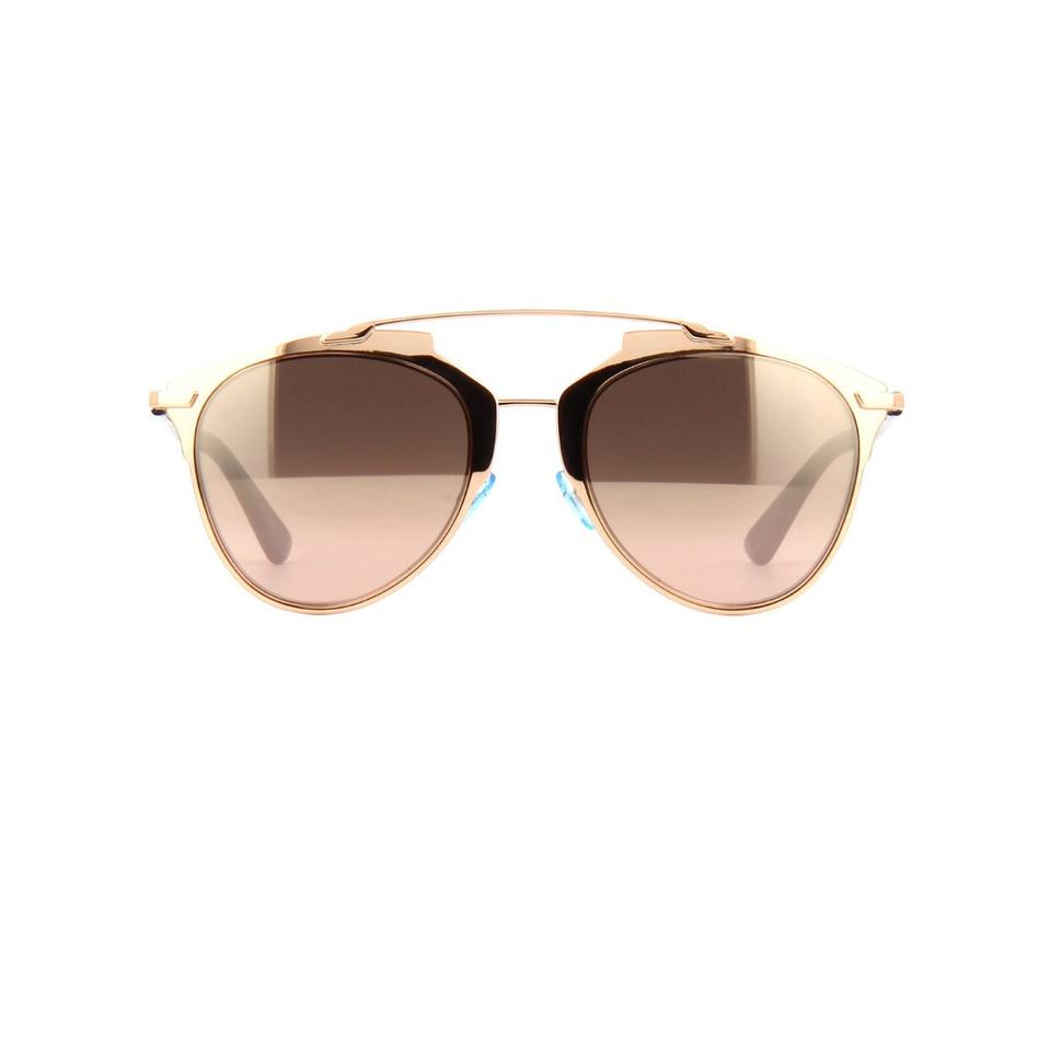 CHRISTIAN DIOR Dior Reflected mirrored clubmaster-style ...