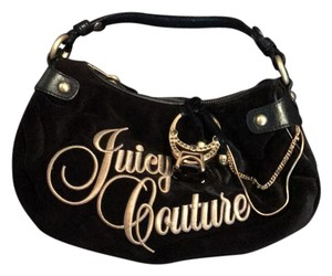 Juicy Couture Satchel in Black and Gold