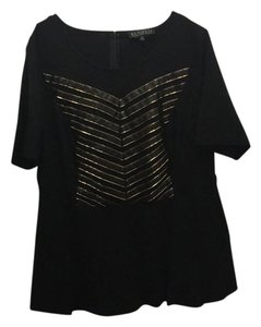 The Limited Top black and gold