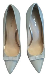 Coach Patent Keather Date Night Office Bow light blue Pumps