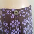 Chanel Purple Beige Black Interlocking Cc Logo Printed Silk A-line Skirt Size 12 (L, 32, 33) Chanel Purple Beige Black Interlocking Cc Logo Printed Silk A-line Skirt Size 12 (L, 32, 33) Image 6