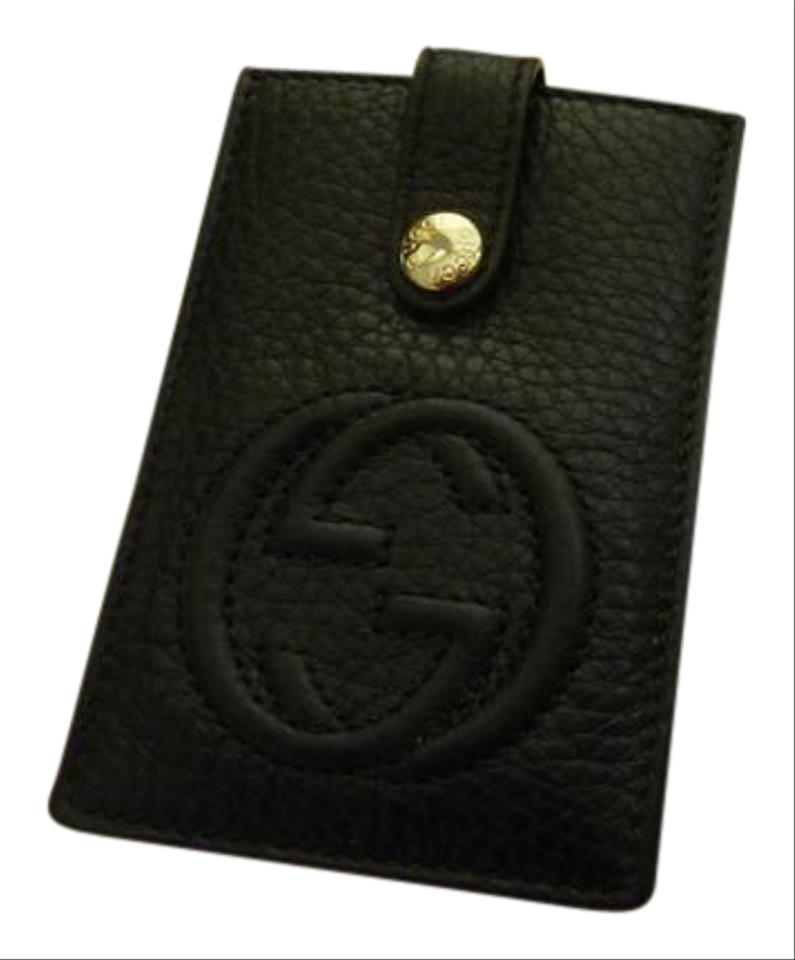 Gucci Black Soho Credit Card Case Business Card Holder - Box New ...