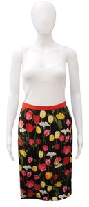 Dolce&Gabbana Floral Exposed Zipper Skirt Multicolor